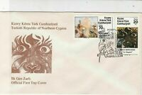 Turkish Federated Cyprus 1984 Northern Cyprus Slogan FDC Stamps Cover Ref 23638