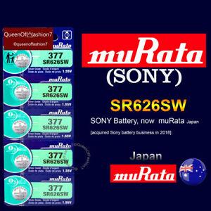 5 x Genuine muRata SR626SW QueenOffashion7 Japan Silver Oxide 377 Battery