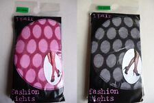 1 PAIR Fashion Tights Oval Black or Cerise 90% Polyamide 10% Elastane tights