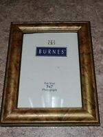 Vintage Burnes of Boston Photo Frame Picture Gold Brown Rectangle Portrait 5x7
