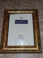Vintage Burnes of Boston Photo Frame Picture Gold Brown Rectangle Portrait 5x7