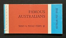 StampTLC Australia 446a 4 Famous Australians 5c Entire Booklet November 6 1968