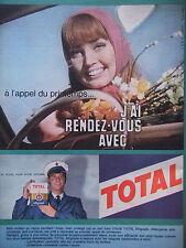 PUBLICITÉ DE PRESSE 1962 HUILE TOTAL DU SOLEIL POUR VOTRE VOITURE - ADVERTISING