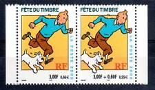 TINTIN - FÊTE du timbre 2000. La paire  Y&T n°3304A cote 4,00€