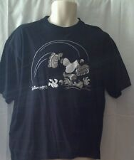 Tee T-Shirt Disneyland Paris Goofey Skating S/M Black Short Sleeve