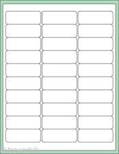 "30 X 1000 Blank sheets Self Adhesive Mailing Return Address Labels 2-5/8"" X 1"""