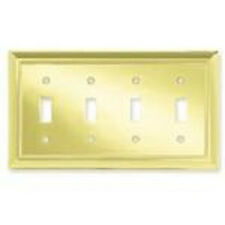 64221 Plated Brass Architect Quad Switch Cover Plate