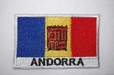 Ecusson brodé patch thermocollant Drapeau ANDORRE- ANDORRA