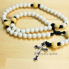 """Volleyball Sports Rosary w/ ball Beads 20""""L for Good Luck Prayer & Protection"""