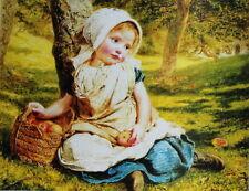 vintage art, Girl with basket of fruit  by Jacques-Laurent Agasse