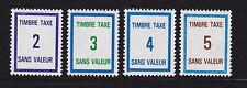 FRANCE TIMBRE FICTIF TAXE FT37 à FT40 ** MNH,neuf sans charnière,  TB