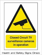 CCTV 'CLOSED CIRCUIT TV IN OPERATION' PLASTIC RIGID SIGN 150 x 210mm *CHEAP*