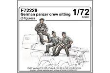 CMK F72228 1/72 German Panzer Crew sitting 3 fig