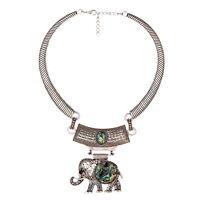 Fashion Charm Statement Choker Bib Collar Pendant Chunky Necklace Silver Boho