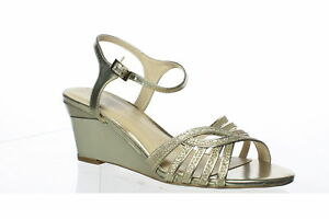 Paradox London Pink Womens Karianne Gold Ankle Strap Heels Size 7 (1428657)