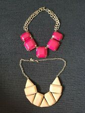 Pink Necklaces x2 Women's Chunky