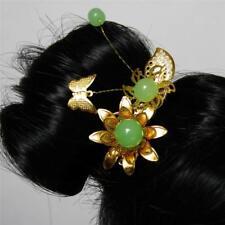 [PF] Ooak Butterfly Mung Bean Ancient Chinese Hairpin 1/3 SD AOD DOD BJD Doll