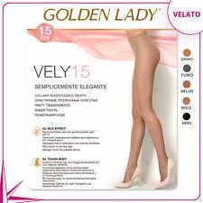 10 COLLANT GOLDEN LADY VELY 15 DENARI CON TASSELLO IGIENICO