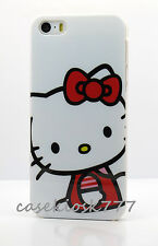 for iPhone 5 5S   case cover white and red cute + film