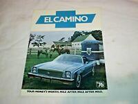 1976 CHEVROLET EL CAMINO PICKUP TRUCK CATALOG BROCHURE NOS