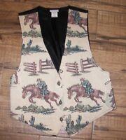 Women's Vintage Backroad Blues Cowboy Vest - M (12-14)