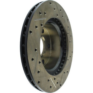 Disc Brake Rotor-Sport Cross-Drilled and Slotted Front Right Stoptech 127.63003R