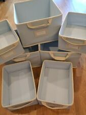 Pottery Barn Kids Light Blue Collapsible Canvas Storage Set of 7
