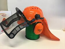 PROFESSIONAL ChainSAW Brushcutter safety helmet, visor, earmuffs & Flap. RRP$65!