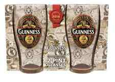 Birra Guinness Set due pinte collector's edition 2016 pinta bicchiere boccale