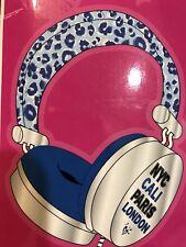 "JUSTICE "" NYC/CALI/PARIS/LONDON"" VACATION HEADPHONES CHEETAH SUPER CUTE!!"