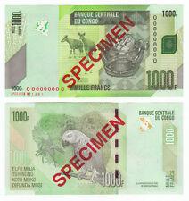 CONGO D.R. 1000 Francs SPECIMEN 2013 P-101s UNC Uncirculated