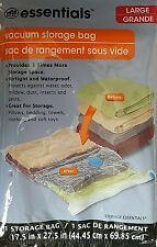 """VACUUM STORAGE BAG Large Clear Plastic Zip-Lock w Handle 17.5""""x27.5""""  1Bag/Pk"""