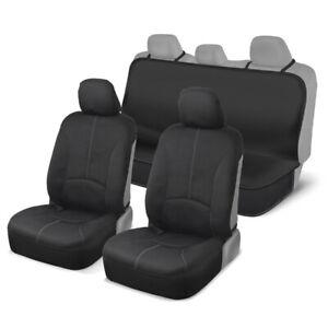 Motor Trend Waterproof Neoprene Complete Seat Cover Set for Gym Yoga Gray/Black