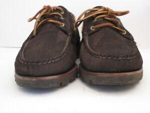 Men's Rancourt Dark Brown Suede Moccasins Size 12 D