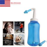 US 500ml Nasal Wash Neti Pot Nose Cleaner Bottle Irrigator Nose Care Adult Child