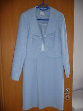 Damen-Kleid, Cocktailkleid, Etuikleid mit Bolero Gr. 36 blau