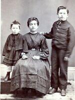 CHILDREN CDV 1860s Siblings Civil War Period Clothing Carte De Visite Photo