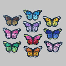 10 Embroidery Butterfly Sew Iron On Patch Badge Embroidered Fabric Applique DIY