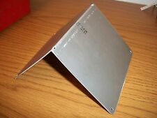 "Bird house roof. Aluminum 9.5 x 5.75"". 90 degree bend. 1/16 thick."
