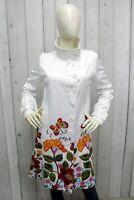 DESIGUAL Donna Cappotto Taglia 42 - M Giubbotto Coat Giubbino Jacket Bianco