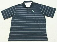 Antigua Blue Mariners Polo Shirt Extra Large Polyester Short Sleeve XL Mans D1