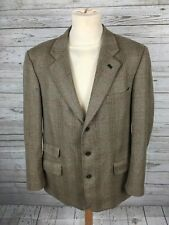 Men'S BERETTA Sport Tweed Chaqueta/Blazer - 42R-Verde-Excelente Estado