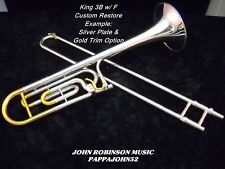 *KING 3B CONCERT trombone 1969-71 w/or w/o F in Lacquer or Silver CUSTOM RESTORE