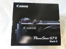 CANON POWERSHOT G7 X MARK II 20.1MP BLACK DIGITAL CAMERA BRAND NEW, SEALED
