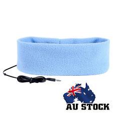 Sleep Headphones SleepPhones Headband Mask for Running Sleeping Light Blue