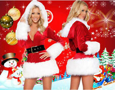 2017 Mrs Santa Claus Fancy Dress Womens Ladies Costume Christmas Red Outfit
