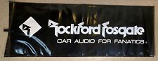 Rockford Fosgate 'Car Audio For Fanatics' 3' X 8' Advertisement Banner