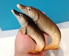 Fish Pike Porcelain figurines gift fisherman collection Souvenirs from Russia