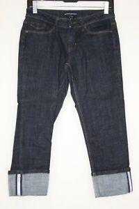 Banana Republic Women's Denim Capri Jeans Cropped Stretched Cuff Sz. 0