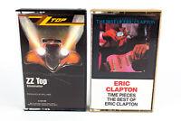 ZZ Top & Eric Clapton: Blues Rock Cassette Tapes - Lot of 2